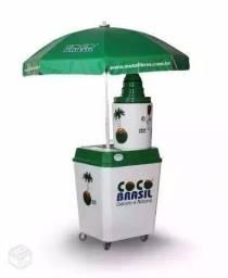 Mini carrinho de água de coco