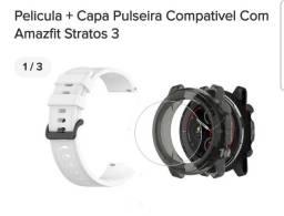 Stratos 3 capa, película e pulseira