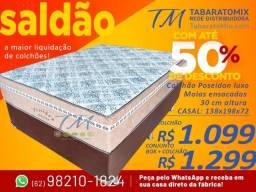 Título do anúncio: Conjunto Base + Colchão Casal Omega Poseidon 30cm Molas Ensacadas! 12X Sem Juros