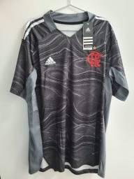 Título do anúncio: Camisa De Goleiro Flamengo II 21/22 Personalizada - Torcedor Unissex - A Pronta Entrega!
