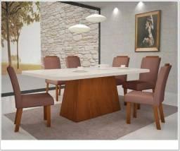 Título do anúncio: Sala de Jantar Vitória - 6 cadeiras - Amendoa Off White