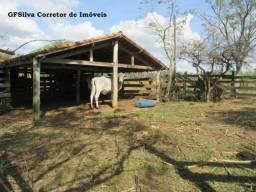 Sítio 44.000 m2 com Rio nos fundos e lagos Casa 2 dorm. Ref. 401 Silva Corretor
