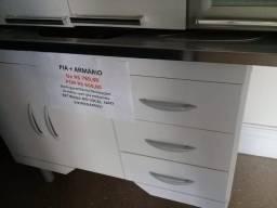 Pia + armário para cozinha