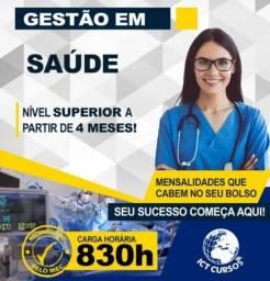 Título do anúncio: Curso Superior em Gestão de Saúde - EAD, Promoção