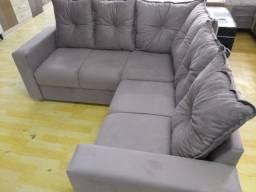 Sofa De Canto Animalle , Suede, 1,80x1,80m Frete Gratis**