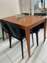 Título do anúncio: Mesa em madeira na cor natural 80 x 120 cm