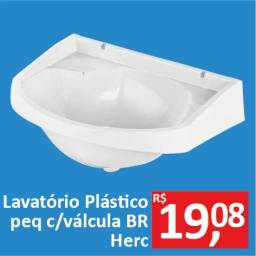 Lavatório Plástico pequeno c/válvula BR - Herc - Promoção R$ 19,08