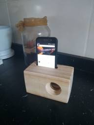 Dock Station De Madeira Para Celular iPhone Samsung Moto G