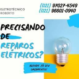 Título do anúncio: Eletricista Profissional Eletrotécnico Roberto Instalações Elétrica de Poste de Aço