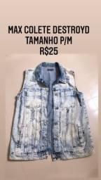 Colete jeans  tamanho P/M R$25