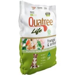 Título do anúncio: Ração Quatree Life Frango e Arroz Cães Filhotes Raças Médias e Grandes 15kg
