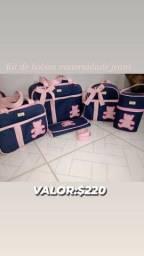 Kits de bolsas maternidade luxo