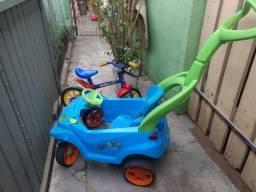 Carrinho smart e bicicleta