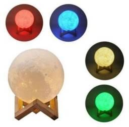 Entrega Grátis * Luminária Lua 5 cores Touch * Chame no Whats