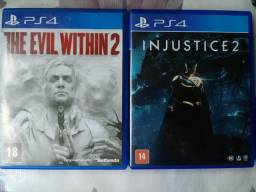 Injustice 2 e The evil withim 2 ps4
