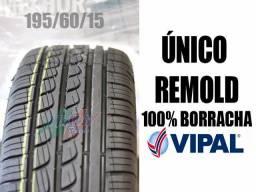 Pneu Remold 195/60 15 -Garantia de 1Ano- *