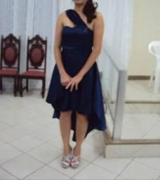 Vestido Festa Azul calda de sereia