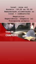 Vaga para chapeiro/a