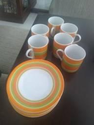 Conjunto de xícara para café
