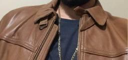 Jaqueta de couro de grife