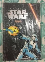 Comics Batman, Star Wars e livro Star Wars Estrelas Perdidas