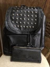 Mochilinha + carteira bolsa