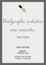 Caligrafia artística em convites