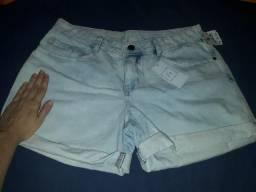 Short jeans desbotado;n40;novo