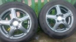 Vendo rodas aro 14 com pneus