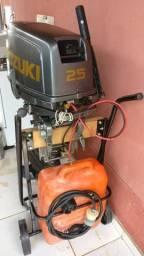 Motor de popa Suzuki 25hp com partida Elétrica