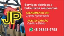 Eletricista Residencial 24 horas (aceito cartões crédito e débito e parcelo)