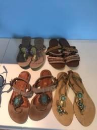 Sandálias rasteirinhas lindas
