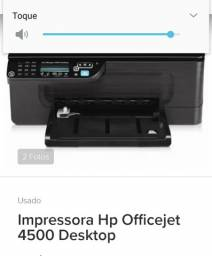 Barbada. Impressora HP Office Jet Modelo 4500.  Pouco usada,  R$ 350,00