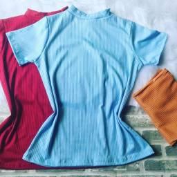 Camisas e Vestidos canelada