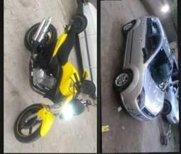 Troco carro e moto em uma hornet zap * - 2011