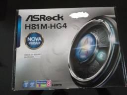 Placa Mae ASRock H81M-HG4 DDR3 Socket LGA1150 Chipset Intel H81