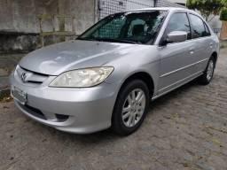 Honda Civic Prata LX 1.7 AT 2005 c/ GNV 5G - 2005