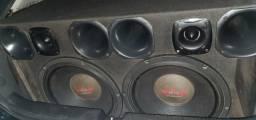 Som Automotivo 2 ultravox 15'' 1200rms cada comprar usado  Barretos