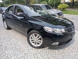 Kia Cerato 2011 Ex3 1.6 mec preto c/ couro bege(lindo!)completíssimo+rodas16+novo!!!