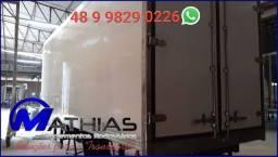 Camara fria 5.50mts semi nova piso de aluminio canaletado Mathias Implementos