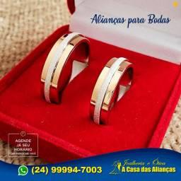 Alianças* anel Ouro 18 Kilates