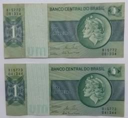 Nota Cédula Um Cruzeiro ( duas )