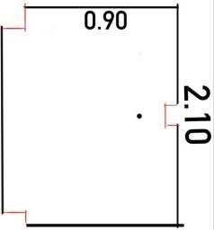 Portas de GIRO (PROMOÇÃO IMPERDÍVEL): 210x90/210x94 / 204x100