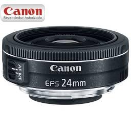 Lente Canon EF-S 24mm F/2.8 STM - Nova com garantia e NFe