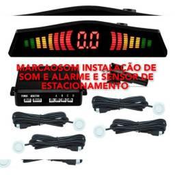 Serviço de instalação de som automotivo alarme e anti-furto e sensor de Ré e assessórios