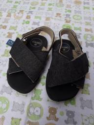Sandália papete Cartago cinza