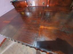 Título do anúncio: Mesa antiga de madeira maciça Jacaranda trabalhada
