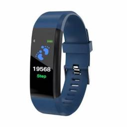 Título do anúncio: Relógio fitness novo azul