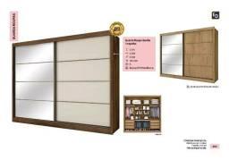 Título do anúncio: guarda roupa sevilha 100% mdf 1 porta de espelho zap  *