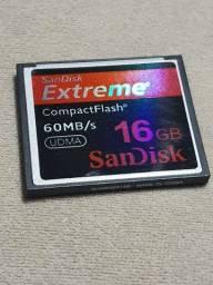 CARTAO MEMÓRIA COMPACT FLASH 16 GB SANDISK CANON NIKON DSLR Card memory
